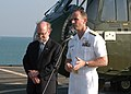 US Navy 050228-N-8955H-073 Commander, U.S. Seventh Fleet, Vice Adm. Jonathan W. Greenert, speaks to members of the local Thai media during a press conference with U.S. Ambassador to Thailand, the Honorable Skip Boyce.jpg