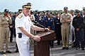 US Navy 060506-N-0780W-001 Vice Adm. Donald Arthur addresses troops aboard the Military Sealift Command (MSC) hospital ship USNS Comfort (T-AH 20) during an admiral's call.jpg