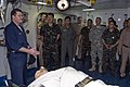 US Navy 090215-N-5215E-043 Cmdr. Michael Picio explains the medical capabilities of USS Essex (LHD 2) to members of the Royal Thai Navy during Cobra Gold 2009 (CG09).jpg