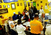 US Navy 090806-N-6220J-004 Sailors and Navy Delayed Entry Program members serve breakfast to homeless men and women at Dorothy's Soup Kitchen in Salinas, Calif. during Salinas Navy Week community service event.jpg