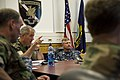US Navy 100608-N-7526R-096 Master Chief Petty Officer of the Navy (MCPON) Rick West receives an operational brief from members of Naval Special Warfare Unit (NSWU) 2 during a visit to U.S. Army Garrison Stuttgart, Germany.jpg