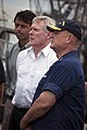 US Navy 100629-N-5549O-139 Louisiana Gov. Bobby Jindal, left, Secretary of the Navy Ray Mabus and Adm. Thad Allen listen to Vice President Joe Biden brief local fishermen.jpg