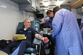 US Navy 100916-N-7783K-019 Boatswain's Mate Seaman Corbin Laudenslager donates blood to benefit Naval Medical Center Portsmouth, Va., during a ship.jpg