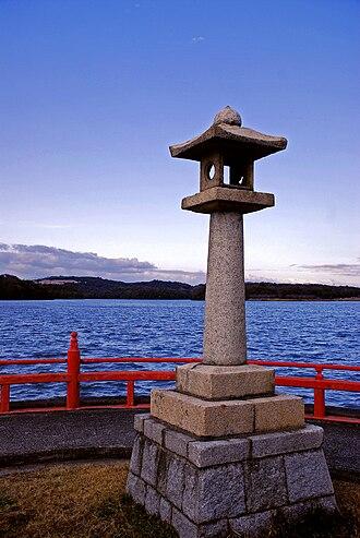 Ube, Yamaguchi - A statue in Tokiwa Park