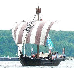 Bremen cog - Image: Ubena von Bremen Kiel 2007 1