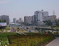Widok na nowoczesne centrum Katowic