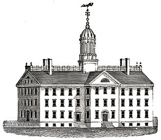 Union College - Union College's first home, an 1804 design built prior to the cohesive Ramée-designed campus