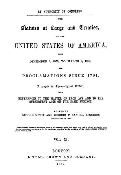 File:United States Statutes at Large Volume 11.djvu