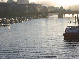 Nidelva - Nidelva in Trondheim. November 8, 2003