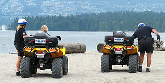 Vancouver Police Department - VPD beach patrol at Kitsilano Beach