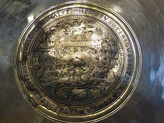 Silver - Silver plate from the 4th century