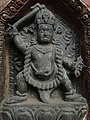 Vajrapani at the right side of door of entry in Swayambhu as a protector.jpg
