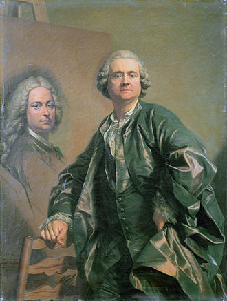 Louis-Michel van Loo - Self-portrait of Louis-Michel van Loo.