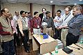 Van de Graaff Generator Experimentation - Indo-Finnish-Thai Exhibit Development Workshop - NCSM - Kolkata 2014-11-27 9749.JPG