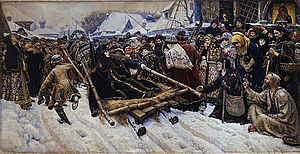 Feodosia Morozova - Image: Vasily Surikov Боярыня Морозова Google Art Project