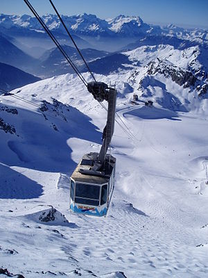 Verbier - Mont Fort cable car