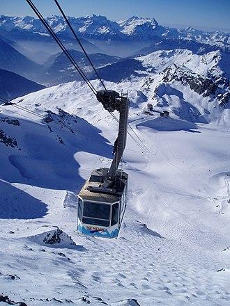 Verbier - Mont Fort cable car