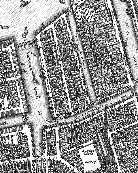 File:Ververgracht, Groenburgwal en Zuiderkerk (1625) door Balthasar Florisz van Berckenrode.jpg