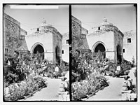 Via Dolorosa, beginning at St. Stephen's Gate. Chapel of Crowning with Thorns. LOC matpc.05431.jpg