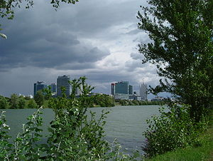 Donau City - Donau City seen from the Donauinsel