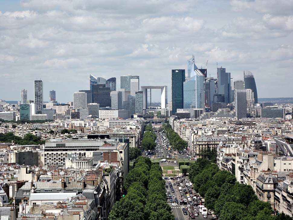View from Arc de Triomphe 64 2012-07-02