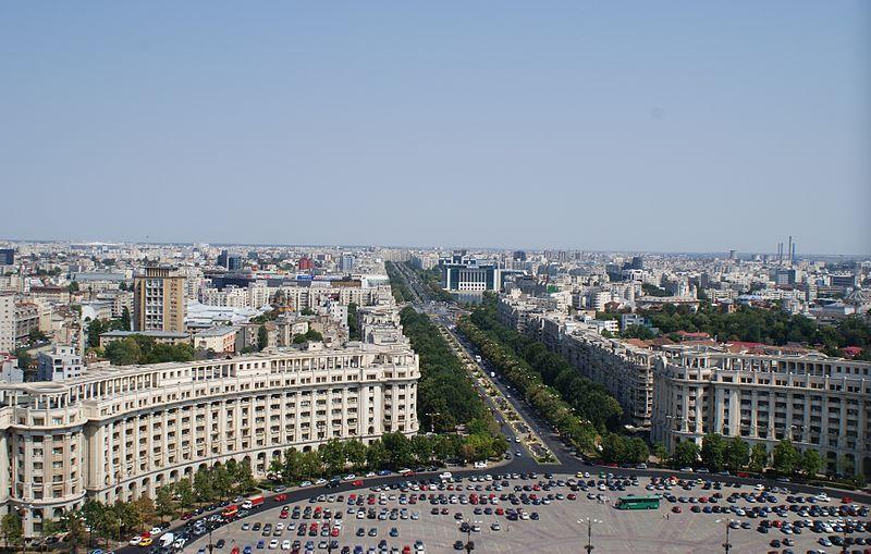 Файл: Вид из Дворца Парламента в Бухаресте. Jpg