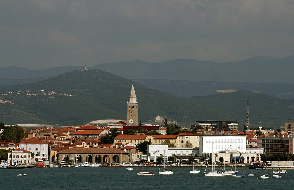 View of Koper from Zusterna