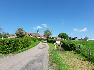 Camembert, Orne - The road into Camembert