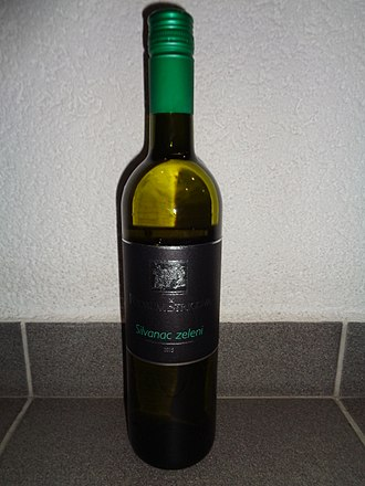 Silvaner - A bottle of Green silvaner from Međimurje County
