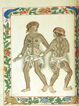Pintados - The Pintados depicted on a page of Boxer Codex