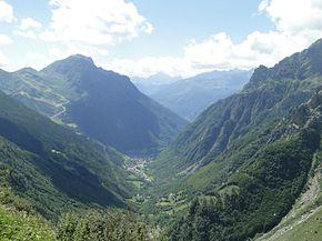 La parte terminale della valle