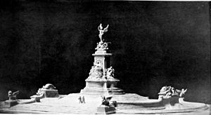 Victoria Memorial, London - The original sketch model created by Thomas Brock of the finalised design of the Victoria Memorial