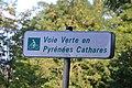 Voie verte en Pyrénées Cathares, panneau.jpg
