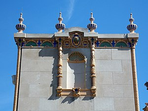 W.D. Petersen Memorial Music Pavilion - Finials at the cornice