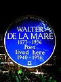 WALTER DE LA MARE 1873-1956 Poet lived here 1940-1956.jpg