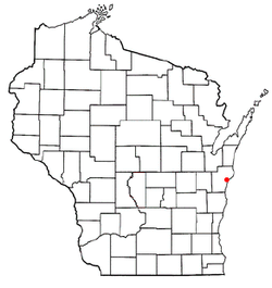 Location of Manitowoc inManitowoc County, Wisconsin