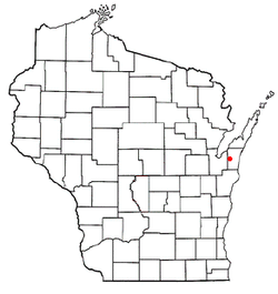 Location of Montpelier, Wisconsin