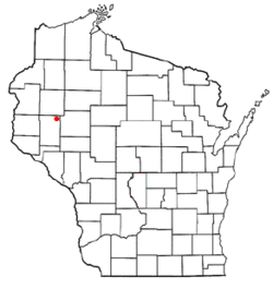 Location of Sand Creek, Wisconsin