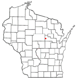 Location of Wittenberg, Wisconsin