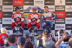 WRC Finland 2011 Day 1 end-of-day interview.jpg