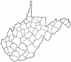 Location of Mason, West Virginia