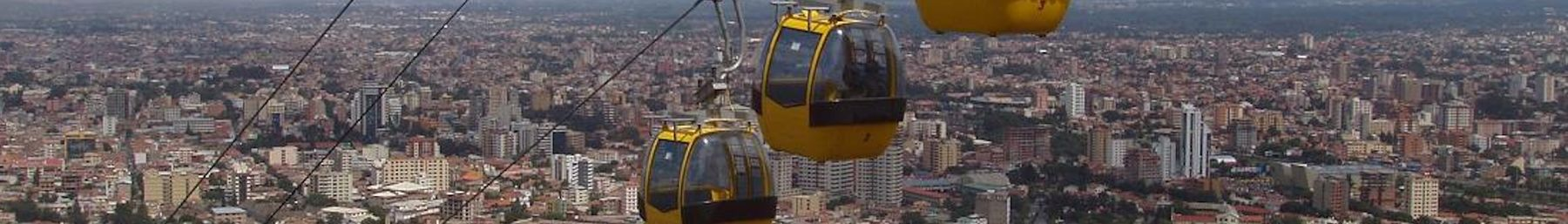 WV banner Cochabamba department Cable cars above Cochabamba.jpg