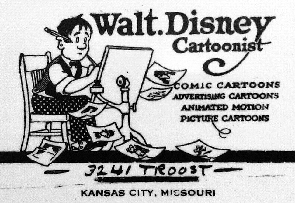Walt Disney envelope ca. 1921