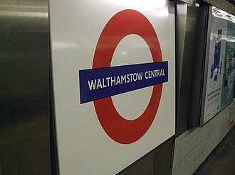 Walthamstow Central station - Image: Walthamstow Central stn Victoria roundel