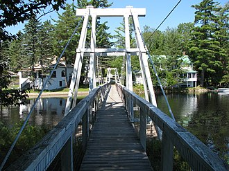 Wanakena, New York - The Wanakena Footbridge over the Oswegatchie River