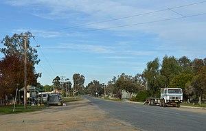 Wanganella, New South Wales - Lang Street, the main street of Wanganella