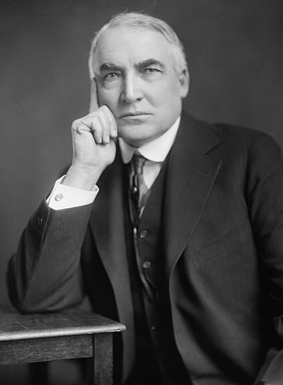 March 4: Warren G. Harding is 29th President of the United States. Warren G Harding-Harris & Ewing.jpg