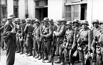 Aserbaidschanische Legion - Soldiers of Aserbaidschanische Feld-Bataillon I./111 during the Warsaw Uprising