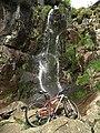 Waterfall in Pingot Quarry - geograph.org.uk - 1292368.jpg