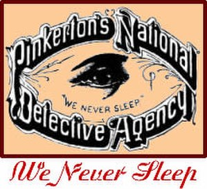Labor spying in the United States - Historic Pinkerton logo